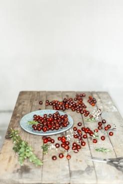 Cherries on rustic table. Food photography.Spain. Marbella Photographer. Aleksandra Olejnik